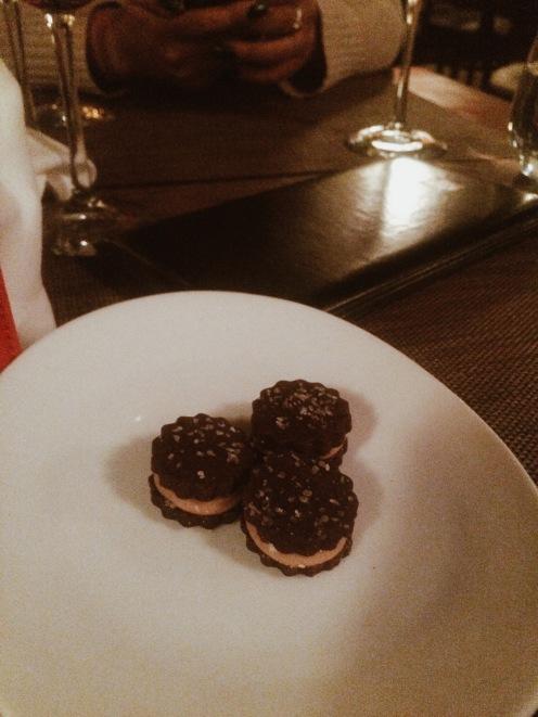 Salted caramel petit fours